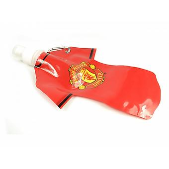 Manchester United FC Official Football Flat Sports Water Bottle (350ml)