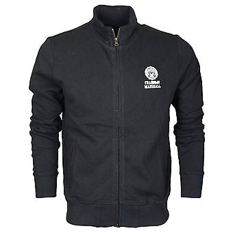 Franklin & Marshall 242an Cotton Black Zip Up Fleece