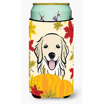 Golden Retriever Thanksgiving Tall Boy beverage Insulator Hugger