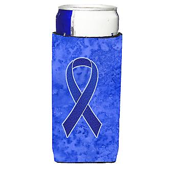 Dark Blue Ribbon for Colon Cancer Awareness Ultra Beverage Insulators for slim c