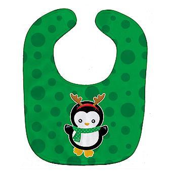 Carolines Schätze BB8944BIB Weihnachten Penquin Rentier Baby Lätzchen