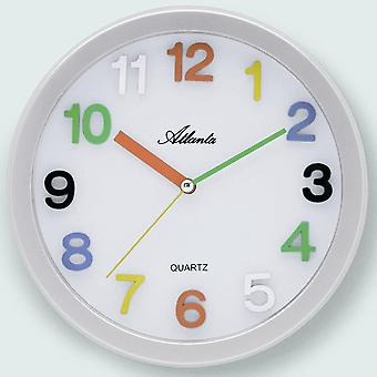 Atlanta wall clock quartz for children high quality ABS housing