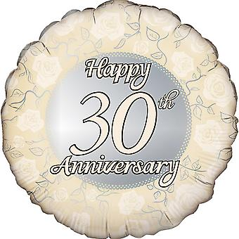 Oaktree 18 Inch Circle Happy 30th Anniversary Foil Balloon