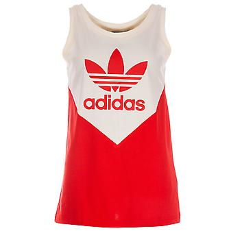 Damen Adidas Originals verschönert Arts Tank-Top In rot / Creme weiß