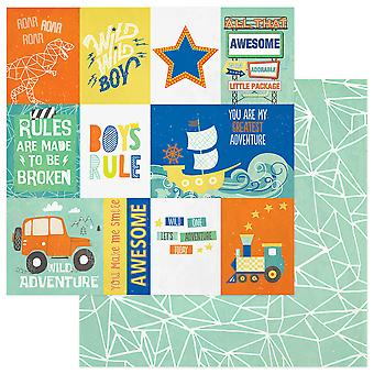 Boys Rule Double-Sided Cardstock 12