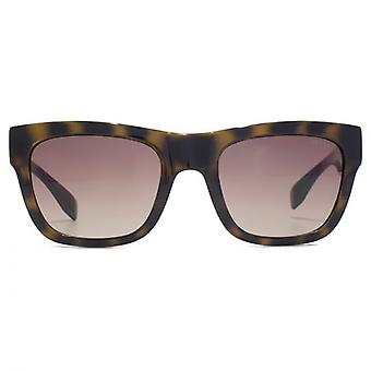 Guess Triangle Logo Square Sunglasses In Dark Havana