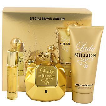 Paco Rabanne Lady milioni Gift Set 80ml EDP + lozione per il corpo 100ml + 5ml EDP