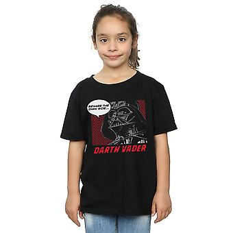 Star Wars Girls Darth Vader Dark Side Pop Art T-Shirt