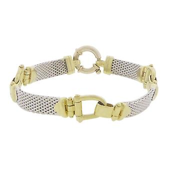 Christian bicolor Golden flexible bracelet