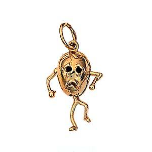 9ct Gold 17x13mm Humpty Dumpty pendant or charm