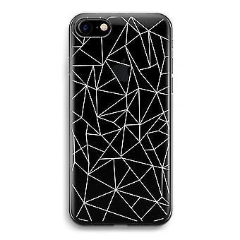 iPhone 7 Transparent Case - Geometric lines white