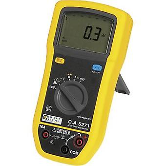 Handheld multimeter Digital Chauvin Arnoux C.A 5271 Calibrated to: Manufacturer's standards (no certificate) Splashproof