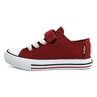 Levis Trucker elastisk duk skor röd