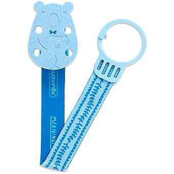 Suavinex Broche Cinta Oso Azul (Childhood , Childcare , Pacifiers , Clips)