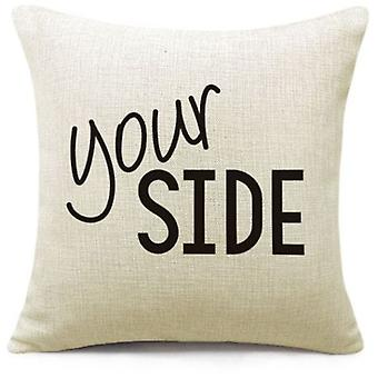 Superstudio Cushion cover your side black and white