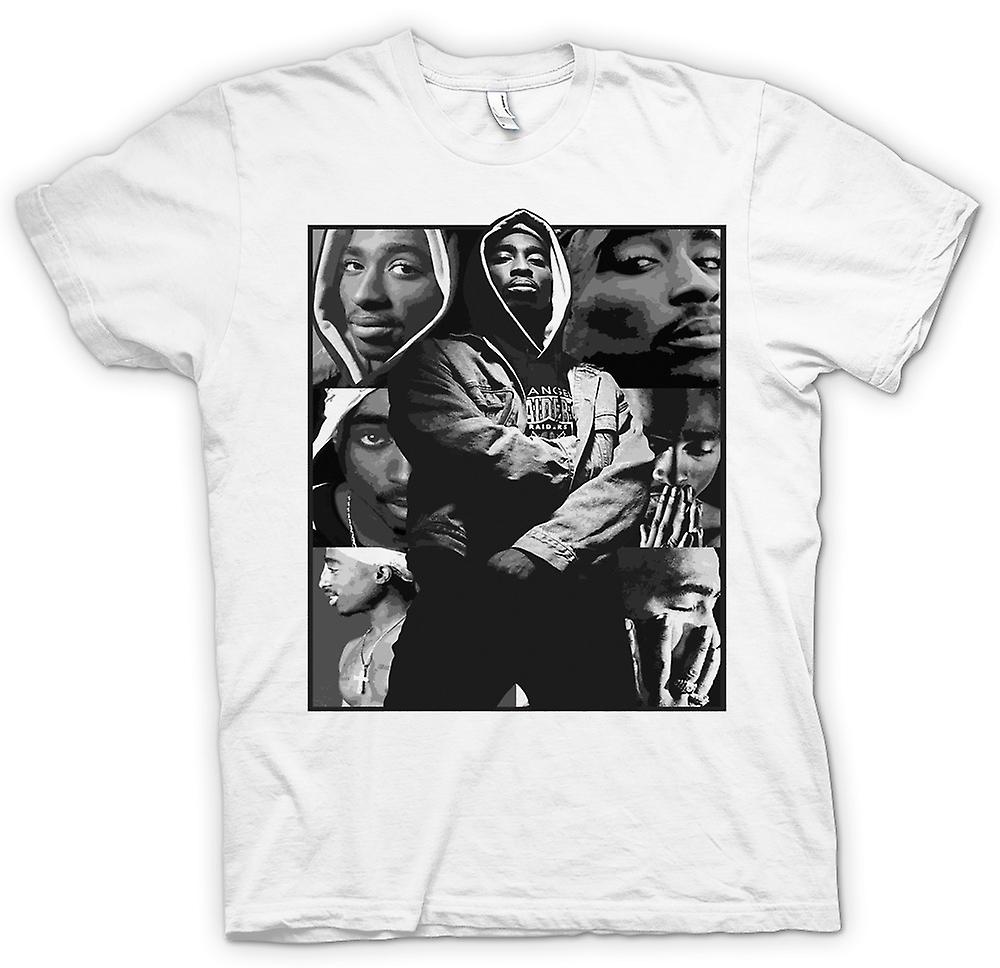 Femmes T-shirt - Tupac Collage - Hip Hop
