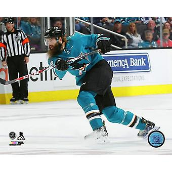 Brent Burns 2017-18 Action Photo Print