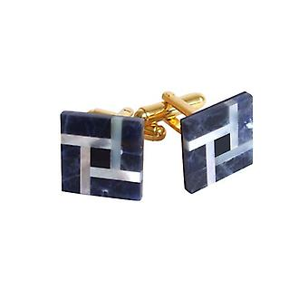 Cufflinks Lapislazuli QUAD men's jewellery gold plated