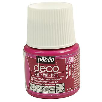 Pebeo Deco Water-Based Matt Colours 45ml (058 Vivid Pink)