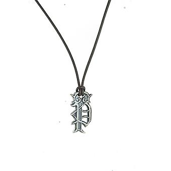 Police mens necklace Royal stainless steel leather PJ. 21917PLE/02