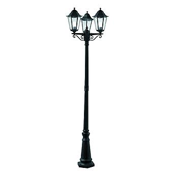 Alex Outdoor Post Lamp - 3 Light Black Ht 220