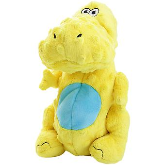 goDog Dinos T-Rex with Chew Guard Small-Yellow