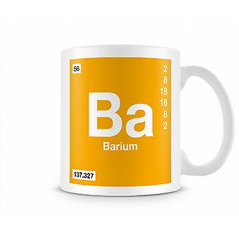 Element Symbol 056 Ba - Barium Printed Mug