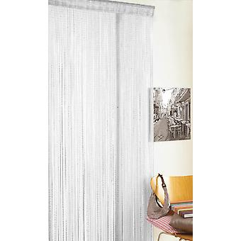 Country Club String Door Curtain, Glitter White