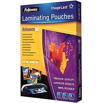 Laminate sheet Fellowes A3 80 micron glossy 100 pc(s)