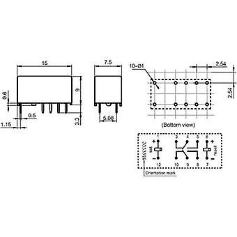 Hongfa HFD3/024-L2 PCB-Relais 24 Vdc 2 2-Umrüstungen 1 PC