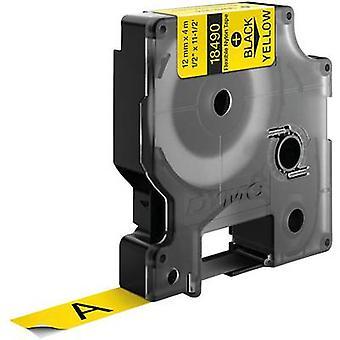 Etiquetado color de cinta de 18490 DYMO cinta: color de fuente amarillo: negro 12 mm 3,5 m
