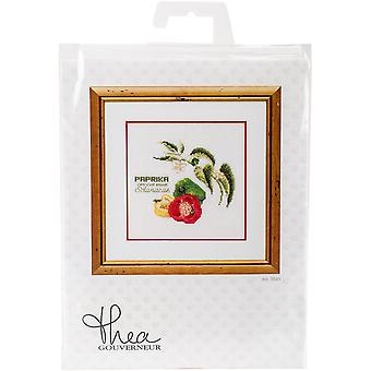 Peppers On Aida Counted Cross Stitch Kit-6.25