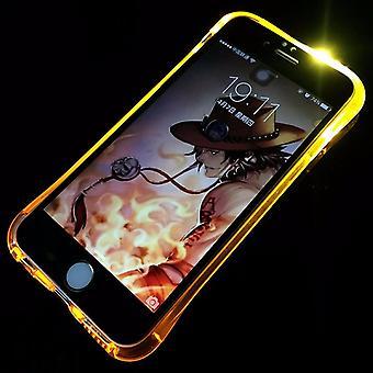 Mobil fall LED Licht kallar för telefonen Apple iPhone 7 plus guld