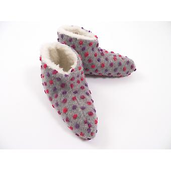 Bed shoes wool studs silver 36/37