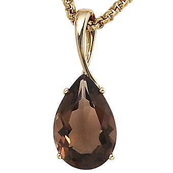 Smoky quartz pendant smoky quartz pendant 333 Gold Yellow Gold 1 smoky quartz