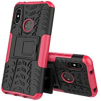 For Xiaomi MI A2 / MI 6 X hybrid case 2 piece SWL outdoor pink pouch case cover protection