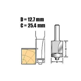 Carburo de tungsteno X 1/4 tendencia C116 autoguiado moldura 1/2 en