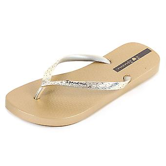 Ipanema Women's Glam Plastic Toe Post Flip Flop Gold