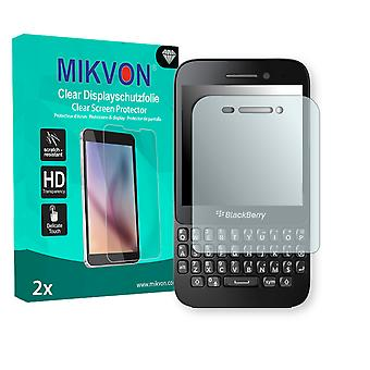 BlackBerry Q5 Screen Protector - Mikvon Clear (Retail Package with accessories)