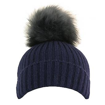Something For Me - Faux Fur Pompom Hat - 399614