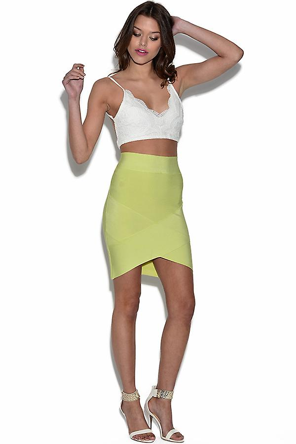 2 Piece Crop Top And Bandage Skirt Set