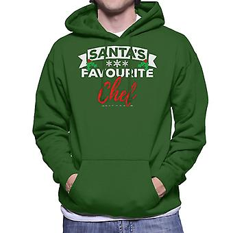 Santas Favourite Chef Christmas Men's Hooded Sweatshirt