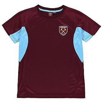 Source Lab Kids West Ham United T Shirt Junior Boys Short Sleeve Performance Tee