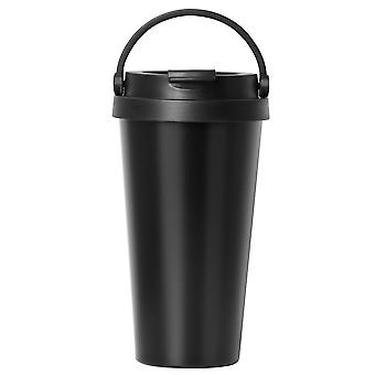 TRIXES Stainless Steel Thermo Travel Coffee and Beverage Cup 500ml Black Colour with Handle Easy Clean