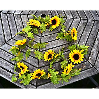 6ft Fabric Artificial Sunflower Garland - Great for Weddings