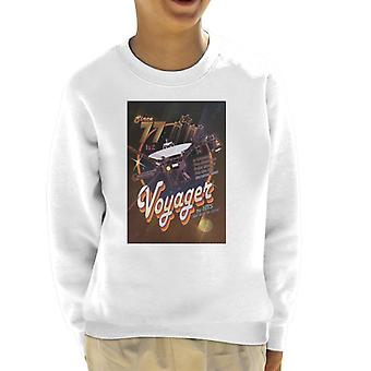 NASA Voyager Disco Interplanetary Travel Poster Kid's Sweatshirt