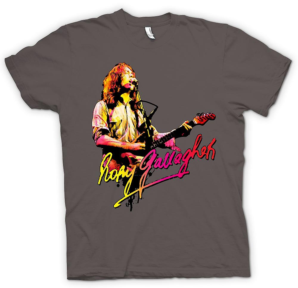 Mens T-shirt - Rory Gallagher - Blues God - Rock Music