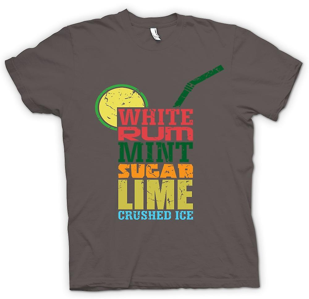 Heren T-shirt - Mojito-Cocktail - Cool