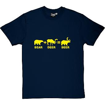 Bear + Deer = Beer Men's T-Shirt