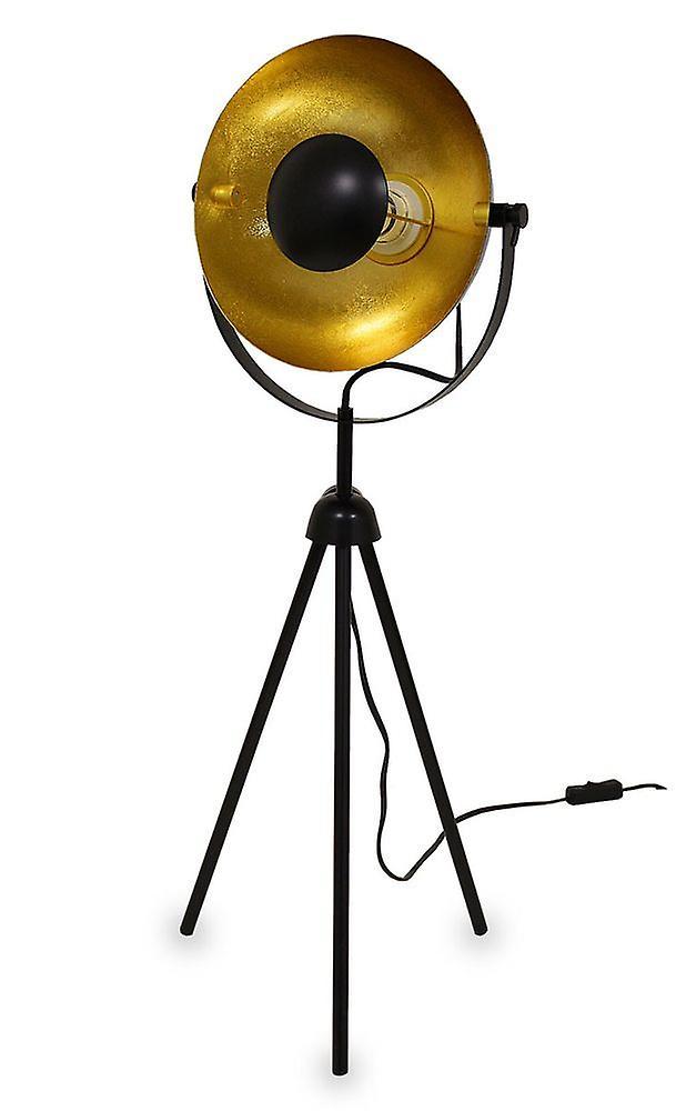 Tripod table lamp small Alona black + gold 76 cm 10839